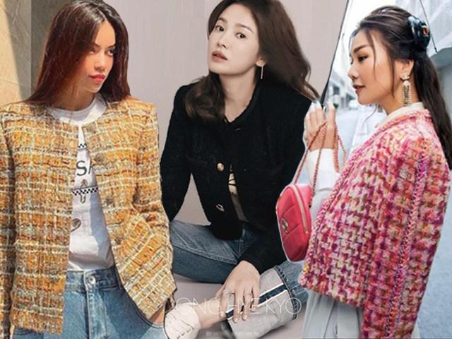 Song Hye Kyo và những lần mix đồ cùng áo vải tweed